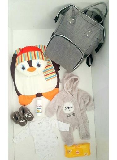 Bebebebek Hoş Geldin Bebek Bakım Çantası Set Hediyelik Renkli